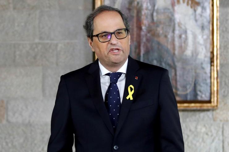 Kataloonia uus president nimetas valitsusse vangistatud eksministreid