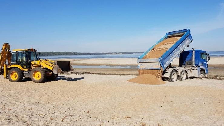 Kakumäe randa toodi 300 tonni liiva