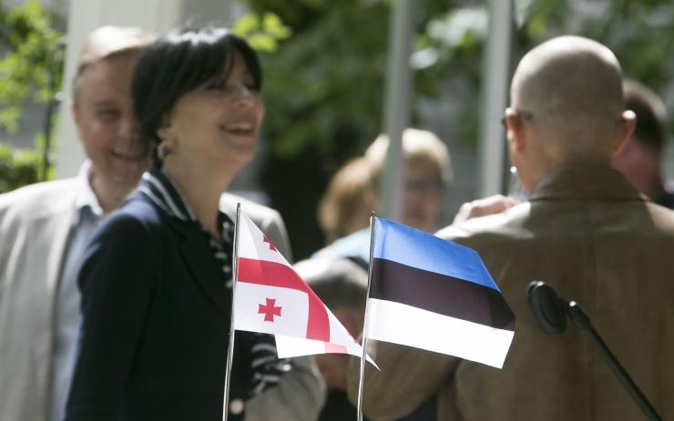 FOTOD! Gruusia kunagise esinduse asukohal avati mälestustahvel
