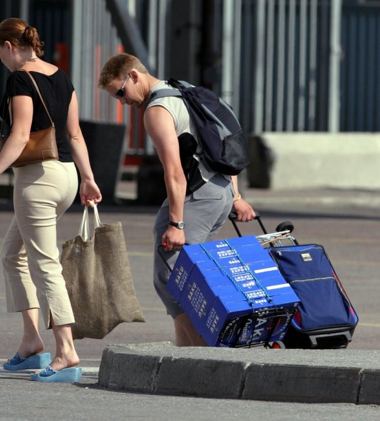 Soomlaste Eestist toodud alkoholi kogus on langenud 23,1 protsenti