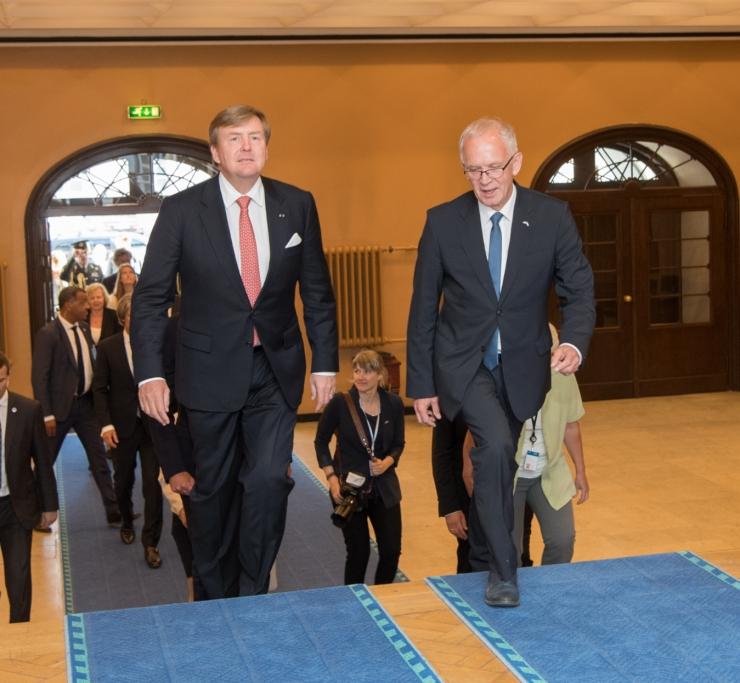 Nestor kõneles Hollandi kuningaga headest kahepoolsetest suhetest ja e-riigist