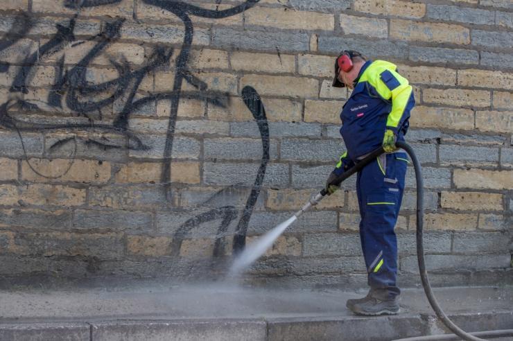 Linnahalli fassaadi puhastamine grafitist saab tähtaegselt valmis