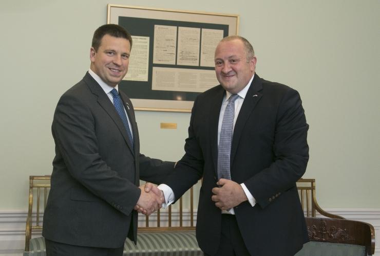 FOTOD! Peaminister Jüri Ratas võõrustas Gruusia president Giorgi Margvelašvilit