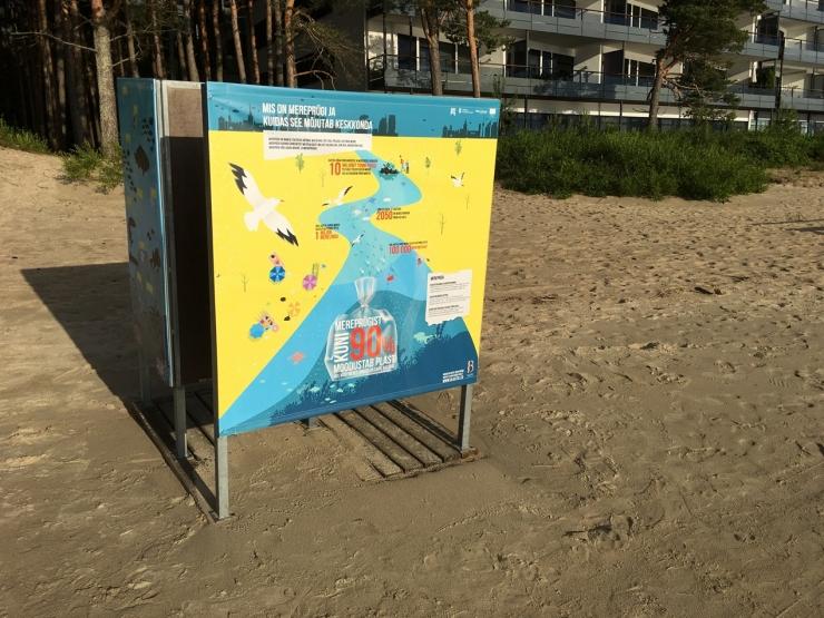 Pirita rannakabiinid kutsuvad üles mereprügi teket vältima