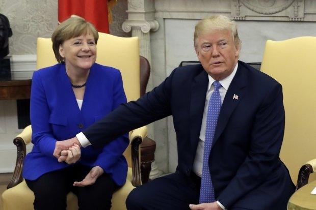 Trump: ma saan Merkeliga väga hästi läbi