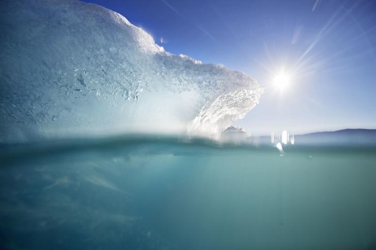 Gröönimaa liustikust eraldus kuue kilomeetri pikkune jäämägi