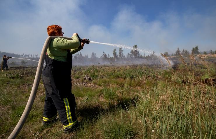 Päästjad pidid kustutama põldudel ja heinamaadel puhkenud põlenguid