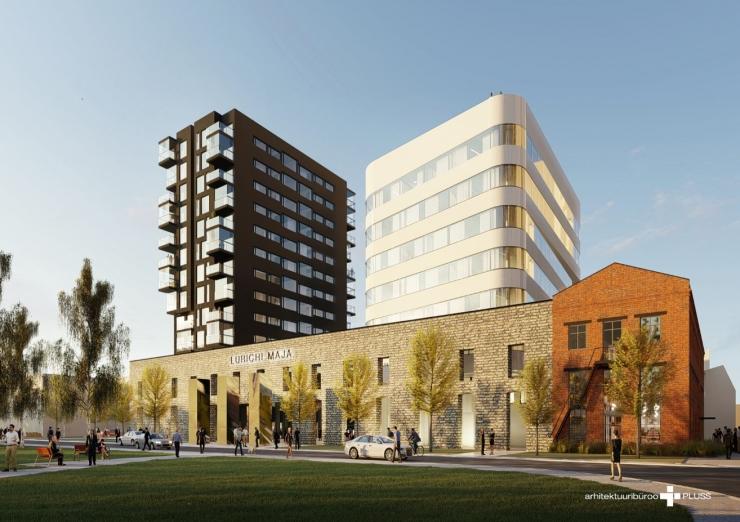 VAATA PILTE: Ülemiste linnakusse kerkib esimene eluhoone