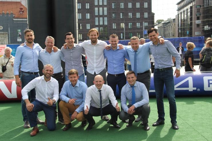 Tallinna linnajuhid mängisid UEFA ametnike vastu