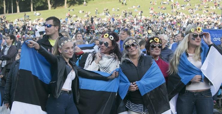 FOTOD! Üheslaulmisel liitus üleilmse elektroonilise kooriga üle 52 000 inimese