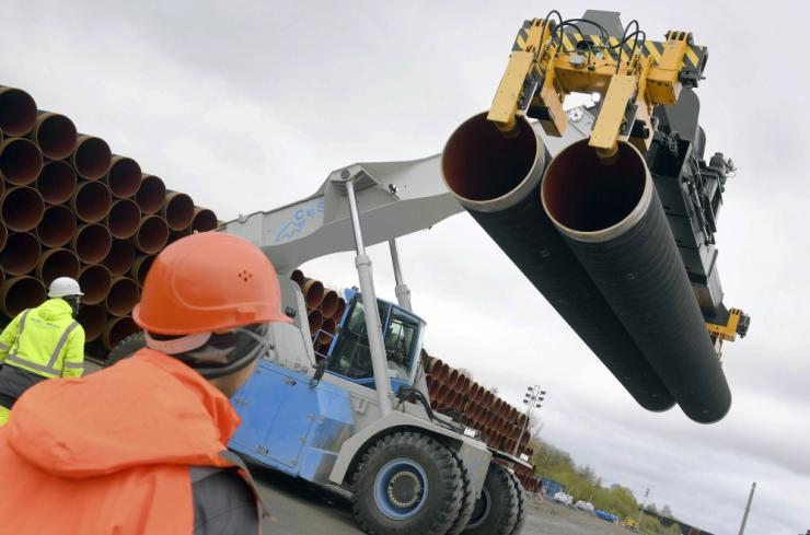 Soome lahes algas Nord Stream 2 gaasitoru paigaldamine