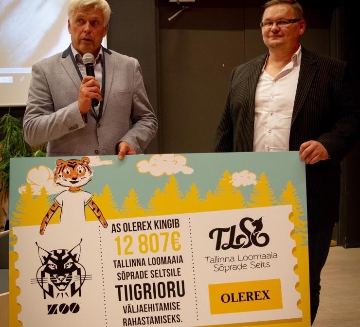 Olerex kogus kampaaniaga Tallinna loomaaia Tiigrioru projekti jaoks ligi 13 000 eurot