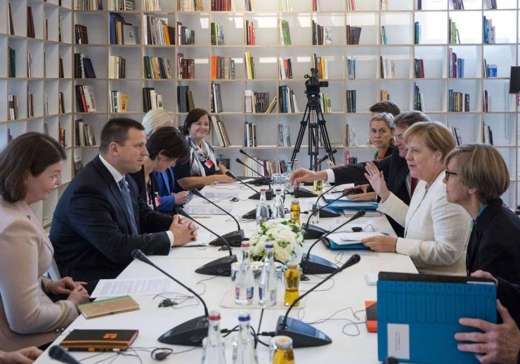 FOTOD! Balti liidrid arutasid Merkeliga EL-i tippkohtumise teemasid