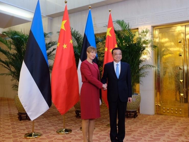 FOTOD! President Kaljulaid arutas Hiina peaministriga majanduskoostööd