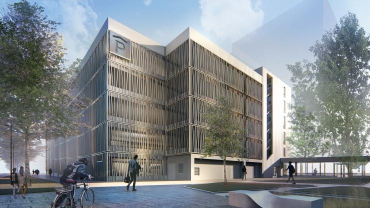 FOTOD! Vaata Ülemiste City linnaku uut büroohoonet koos linnaväljakuga