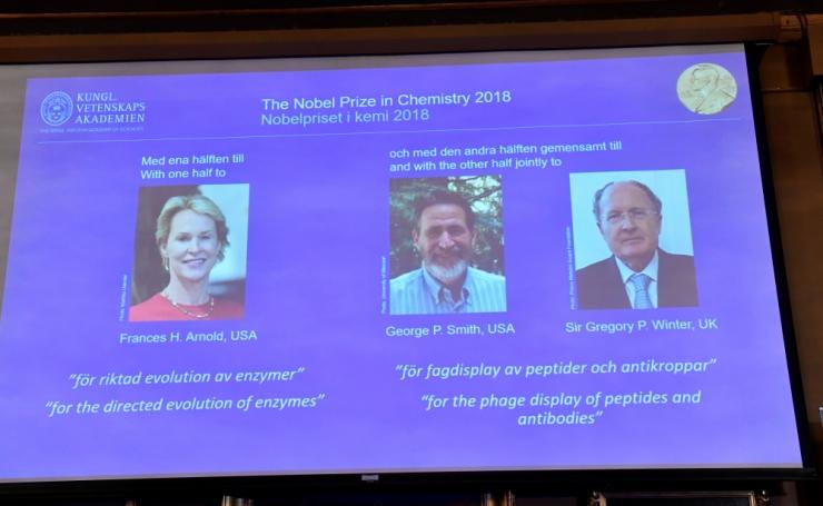 Nobeli keemiapreemia pälvinud teadlased panid Darwini põhimõtted katseklaasi