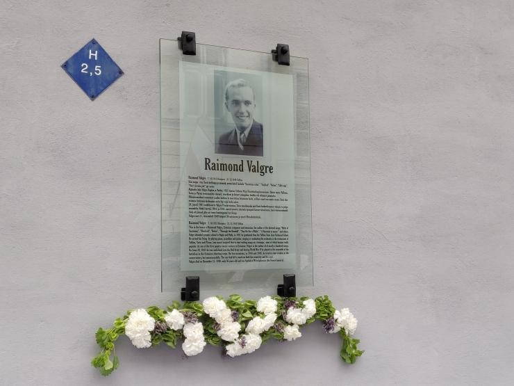 Vanalinnas avati Valgre mälestustahvel