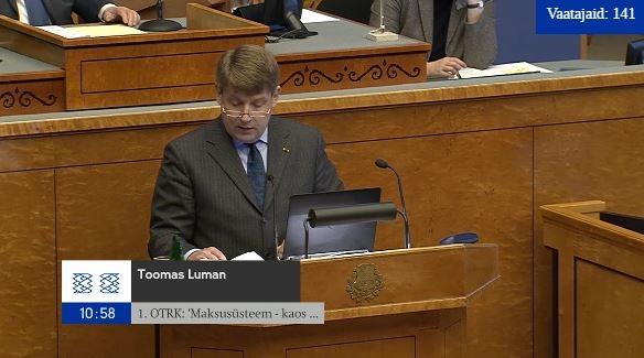 OTSE: Riigikogu arutab maksusüsteemi üle