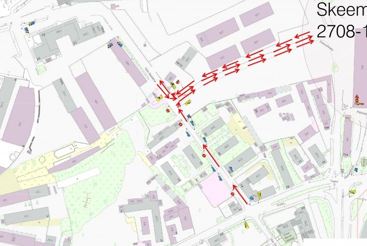 Uus-Sadama ja Petrooleumi tänaval muutus liikluskorraldus