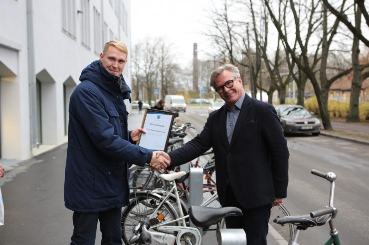 Eesti Kunstiakadeemia uus hoone pälvis Põhja-Tallinna Jalgratturite sõbra auhinna