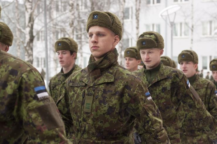 Esimese jalaväebrigaadi sõdurid vandusid Eesti riigile truudust