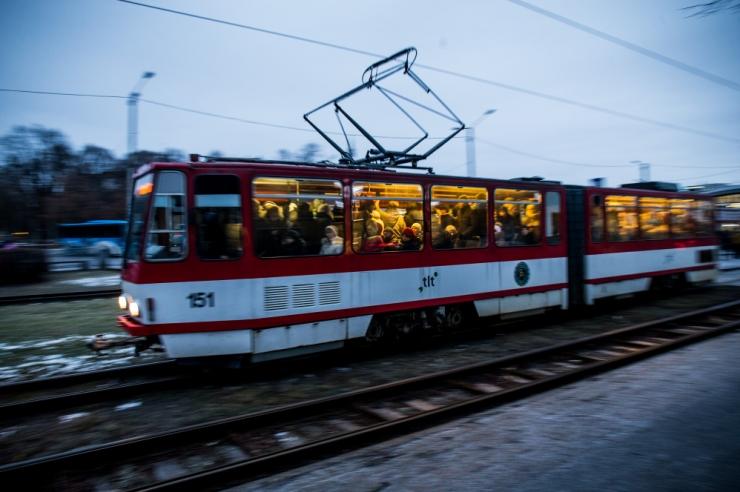 Avarii peatas trammiliikluse
