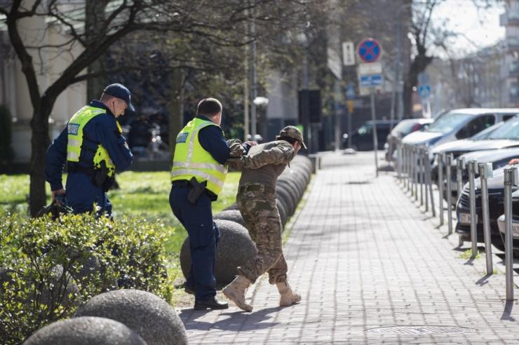 Politseinikud ja kaitseliitlased harjutavad koostööd Tallinna ühisõppusel