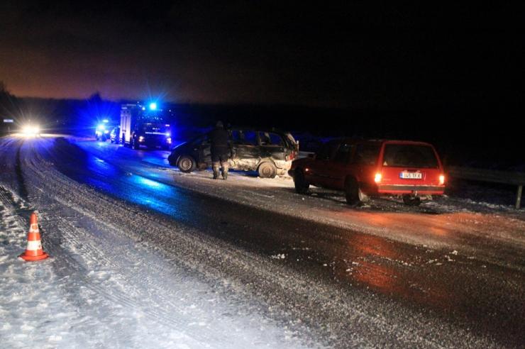 Eile õhtul toimus laupkokkupõrge veoauto ja sõiduauto vahel
