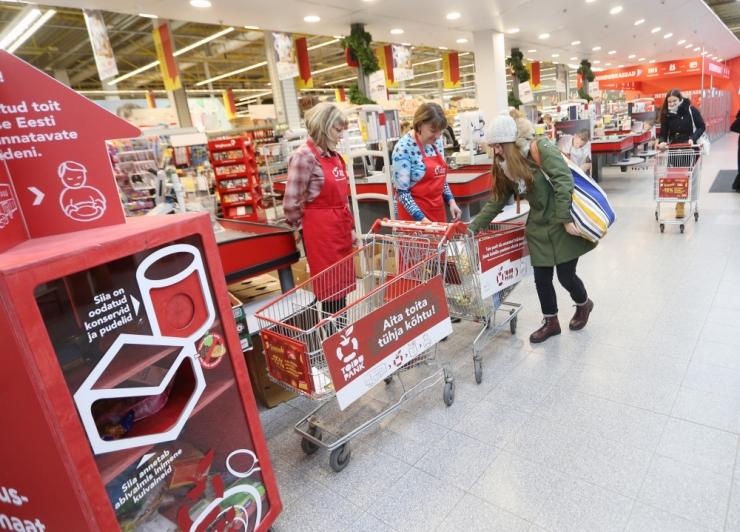 Heade inimeste abiga kogus Toidupank 37 tuhat kilo toidukaupa