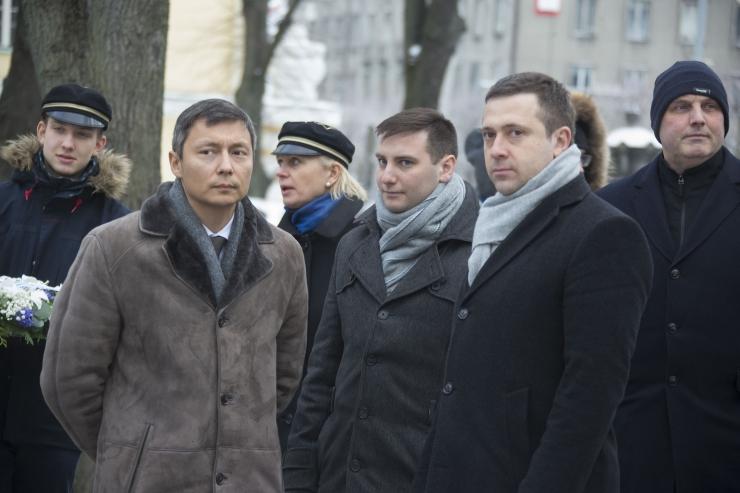 FOTOD! Vadim Belobrovtsev osales Kalevi jalaväepataljoni mälestustahvli avamisel