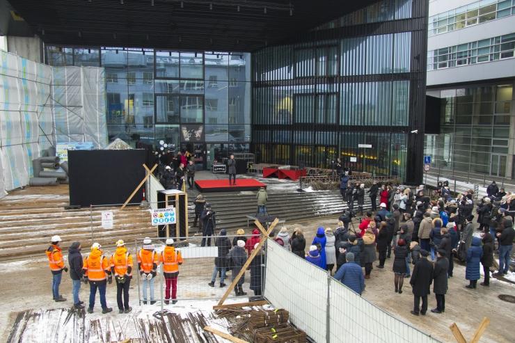 FOTOD! TLÜ REKTOR: Uue õppehoonega saab meie ülikool valmis!