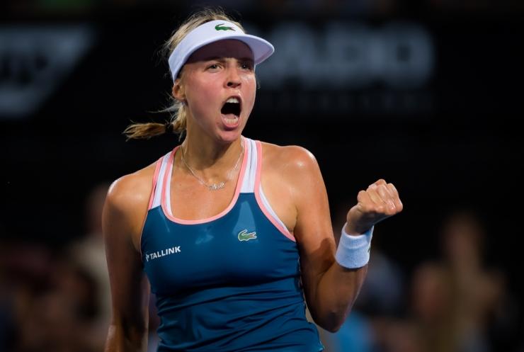 Anett Kontaveit jõudis Sydney WTA turniiril teise ringi