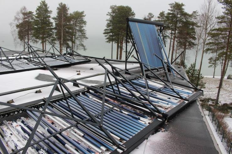 Eelmise nädala torm viis katuselt ligi 20 000 euro eest päikesepaneele