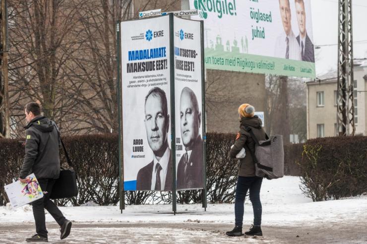 Politsei algatas EKRE plakatite sodimise asjus väärteomenetluse
