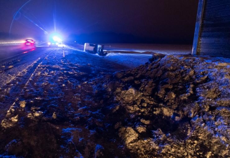 Päeva ainsas raskemas liiklusõnnetuses sai viga üks inimene