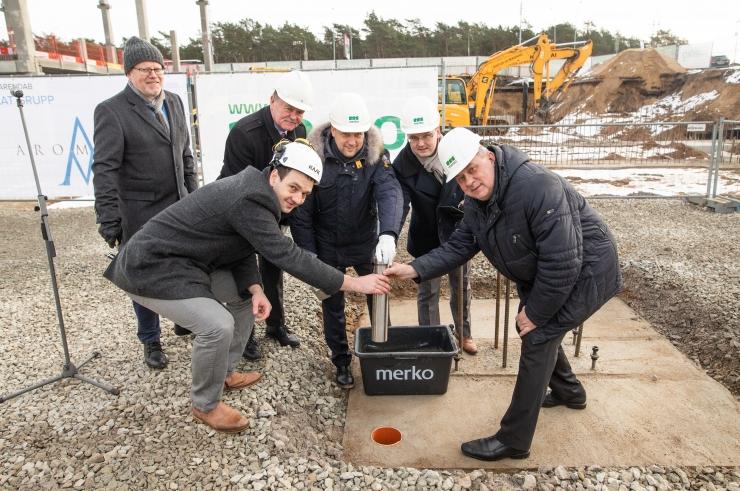 Pärnu maantee kõige uuem ärimaja sai nurgakivi