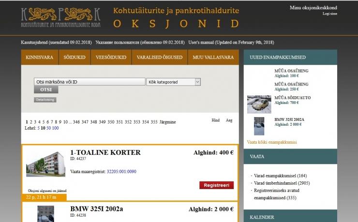 Eesti kohtutäiturid lahendasid eelmisel aastal ligi 95 000 täitemenetlust
