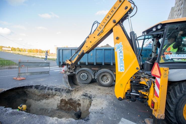 Veeavarii tõttu tasub Tallinnas Tööstuse tänaval liiklemist vältida