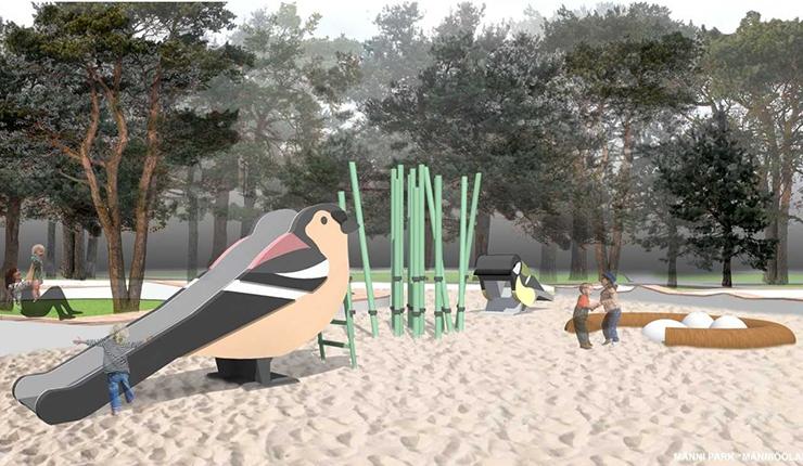 Priisle park uhkeldab kogukonnaaia, uuenev Männi park sipelgaradadega