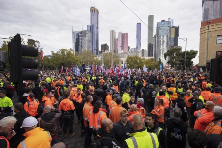 Kümned tuhanded austraallased nõudsid meeleavaldusel kõrgemat palka
