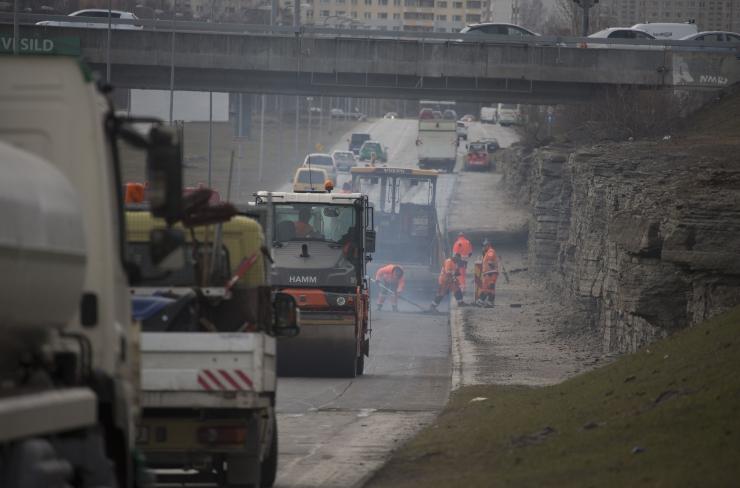 Tallinna Teede AS on remontinud 40 000 ruutmeetrit asfaltkatet