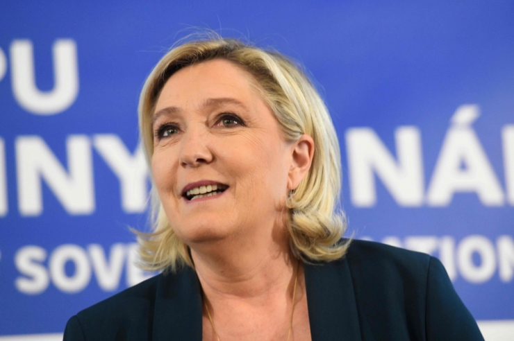 Prantsusmaa Rahvusliidu juht Marine Le Pen saabus Eestisse