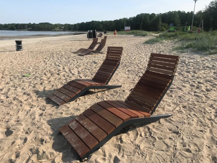Kakumäe ja Harku randa paigaldati ainulaadsed rannatoolid