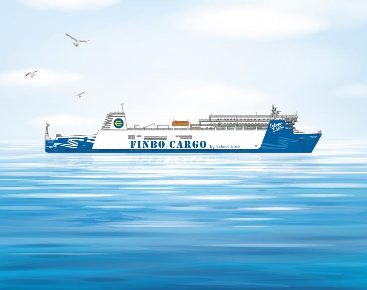 Eckerö Line'i kaubalaev hakkab sõitma hoopis Muuga sadamast