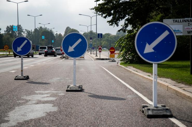 Tallinnas Russalka juures muutub liikluskorraldus