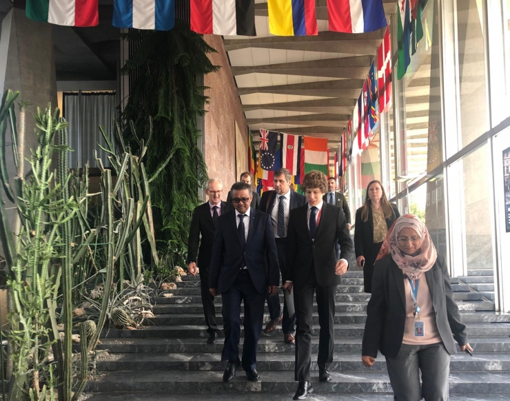 Sotsiaalminister Tanel Kiik kohtus WHO peadirektoriga