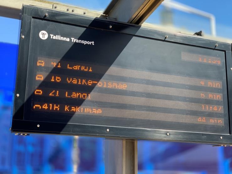 Tallinnas on juba 30 elektroonilist liiklusinfotablood