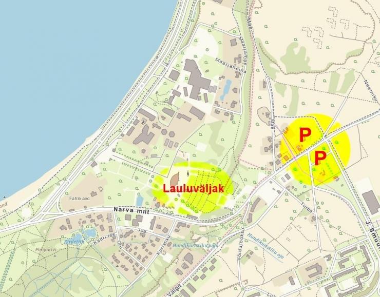 Laulupeo ajaks on loodud ajutised parkimisalad Lasnamäel