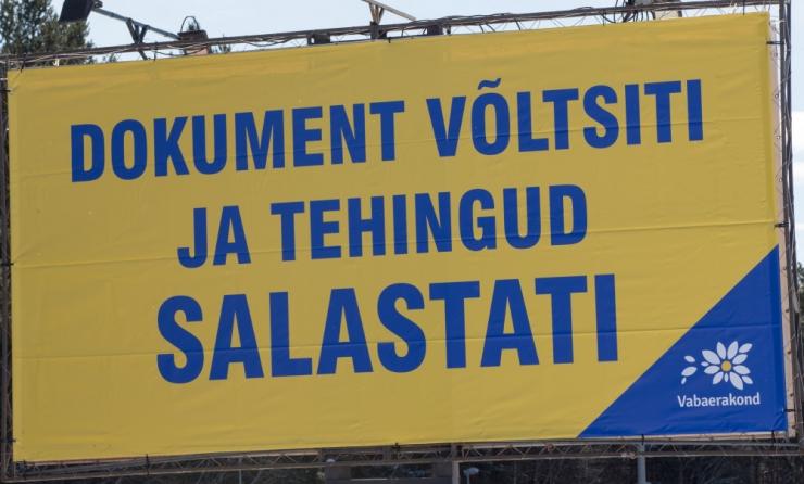 Seadusemuudatus tühistaks poliitilise välireklaami keelu valimispäeval
