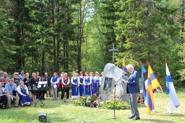 Rahvastikuminister heiskas ingerisoomlaste laulupeo lipu